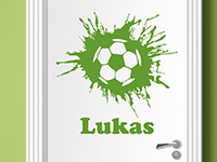 Wandtattoo Fußball mit Wunschname