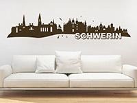 Schwerin Wandtattoo als Skyline auf heller Wand