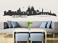 Skyline Wandtattoo Erfurt im Wohnzimmer
