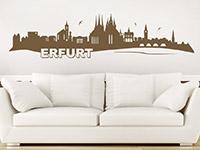 Erfurt Wandtattoo auf heller Wandfläche