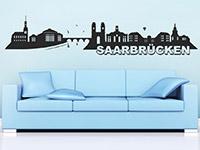 Wandtattoo Saarbrücken im Wohnzimmer