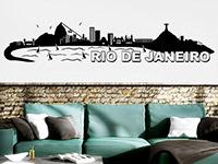 Wandtattoo Rio de Janeiro im Wohnzimmer