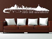 Skyline Rio als Wandtattoo auf heller Grundfläche