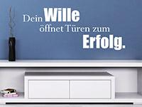 Wandtattoo Dein Wille öffnet Türen Spruch im Wohnzimmer