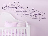 Wandtattoo Wenn Sternenglanz erhellt... im Kinderzimmer
