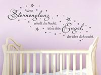 Sterne Wandtattoo Wenn Sternenglanz erhellt... über dem Babybett