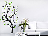 Wandtattoo Zweifarbiger Baum im Wohnzimmer