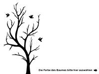 Wandtattoo Zweifarbiger Baum Motivansicht