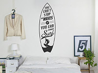 Cooler Wandtattoo Spruch Stop the waves im Schlafzimmer