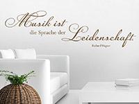 Wandtattoo Musik ist die Sprache... im Wohnzimmer