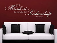 Musik Wandtattoo Musik ist die Sprache... in weiß