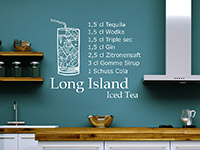Wandtattoo Long Island Iced Tea