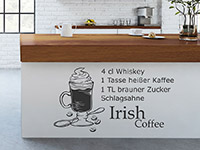 Wandtattoo Irish Coffee
