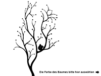 Wandtattoo Baum mit Eichhörnchen Motivansicht