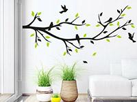 Wandtattoo Dekorativer Zweig in zwei Farben