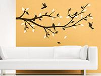 Ast Wandtattoo Dekorativer Zweig in zwei Farben über dem Sofa