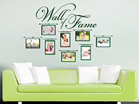 Foto Wandtattoo Wall of Fame im Wohnzimmer