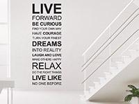 Wandtattoo Live forward