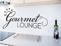 Wandtattoo Gourmet Lounge in der Küche