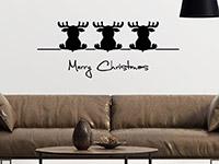 Wandtattoo Süße Weihnachtselche | Bild 3
