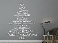 Wandtattoo Internationaler Weihnachtsbaum | Bild 4