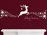 Wandtattoo Weihnachtliches Rentier mit Sternen | Bild 2
