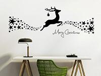Wandtattoo Weihnachtliches Rentier mit Sternen | Bild 3