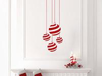 Wandtattoo Gestreifte Weihnachtskugeln | Bild 2