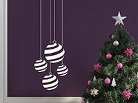 Wandtattoo Gestreifte Weihnachtskugeln | Bild 3