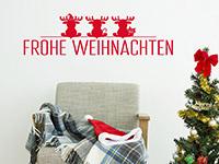 Wandtattoo Frohe Weihnachten mit Weihnachtselchen | Bild 3