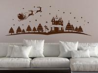 Wandtattoo Weihnachtliche Landschaft | Bild 3