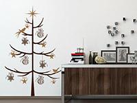 Wandtattoo Zweifarbiger Weihnachtsbaum | Bild 3