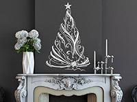 Wandtattoo Festlicher Weihnachtsbaum | Bild 3