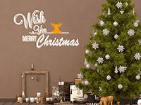 Wandtattoo Merry Christmas mit Elch | Bild 3