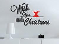 Wandtattoo Merry Christmas mit Elch | Bild 4