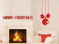 Wandtattoo Festliche Weihnachtskugeln | Bild 4