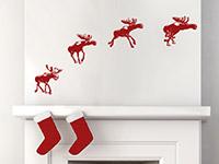 Wandtattoo Weihnachtsrentiere | Bild 2