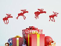 Wandtattoo Weihnachtsrentiere | Bild 4