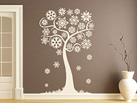 Wandtattoo Winterlicher Baum mit Schneeflocken | Bild 2