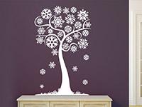 Wandtattoo Winterlicher Baum mit Schneeflocken | Bild 3