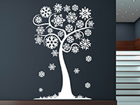 Wandtattoo Winterlicher Baum mit Schneeflocken | Bild 4