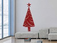 Wandtattoo Dekorativer Weihnachtsbaum | Bild 3