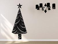 Wandtattoo Dekorativer Weihnachtsbaum | Bild 4