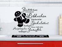 Wandtattoo Weihnachtsplätzchen mit süßem Lebkuchenmann | Bild 2