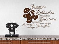 Wandtattoo Weihnachtsplätzchen mit süßem Lebkuchenmann | Bild 3