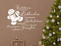 Wandtattoo Weihnachtsplätzchen mit süßem Lebkuchenmann | Bild 4