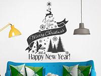 Wandtattoo Weihnachtsbaum I wish | Bild 4