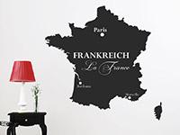 Wandtattoo Frankreich Karte | Bild 2