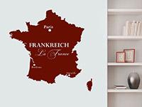 Wandtattoo Frankreich Karte | Bild 3