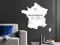 Wandtattoo Frankreich Karte | Bild 4